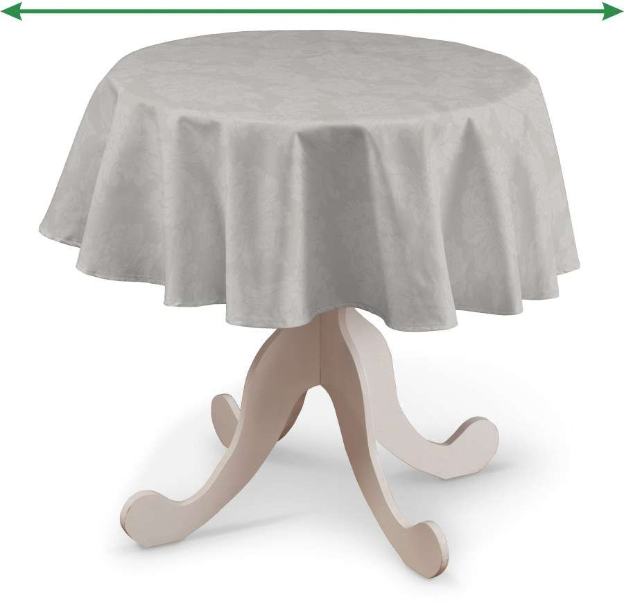 Round tablecloth in collection Damasco, fabric: 613-81