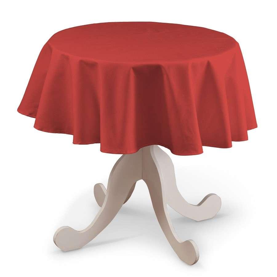 Rund bordsduk i kollektionen Loneta, Tyg: 133-43
