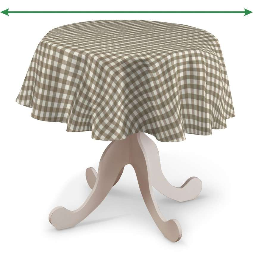 Round tablecloth in collection Quadro, fabric: 136-06