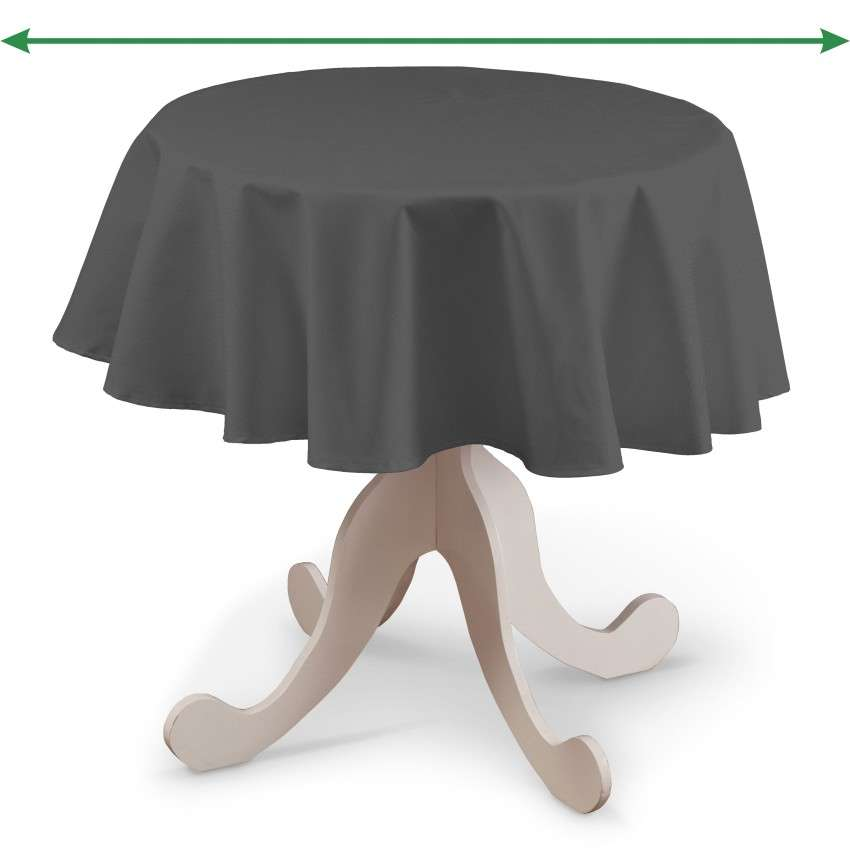 Round tablecloth in collection Quadro, fabric: 136-14