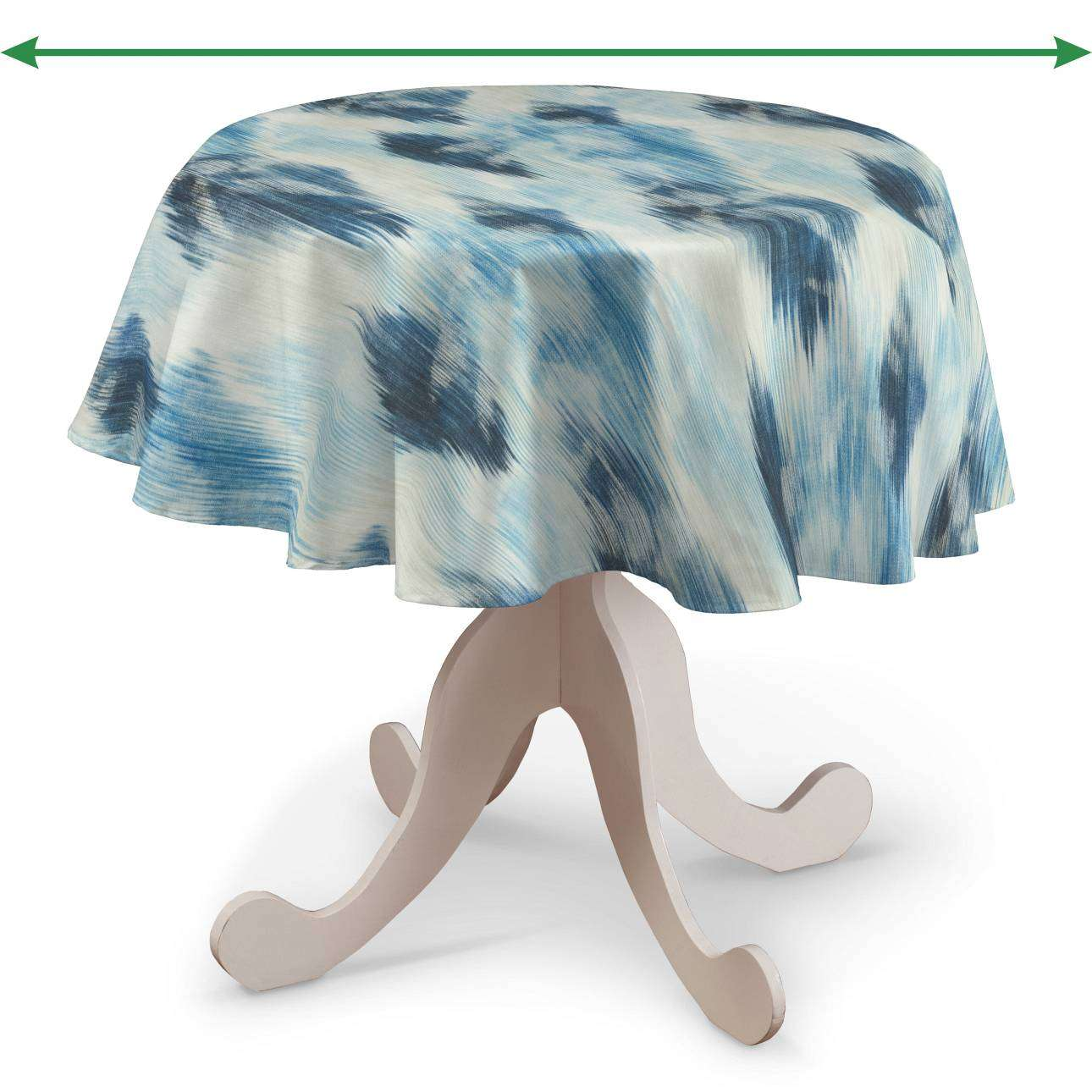 Round tablecloth in collection Aquarelle, fabric: 140-71