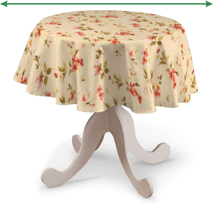 Round tablecloth in collection Londres, fabric: 124-05