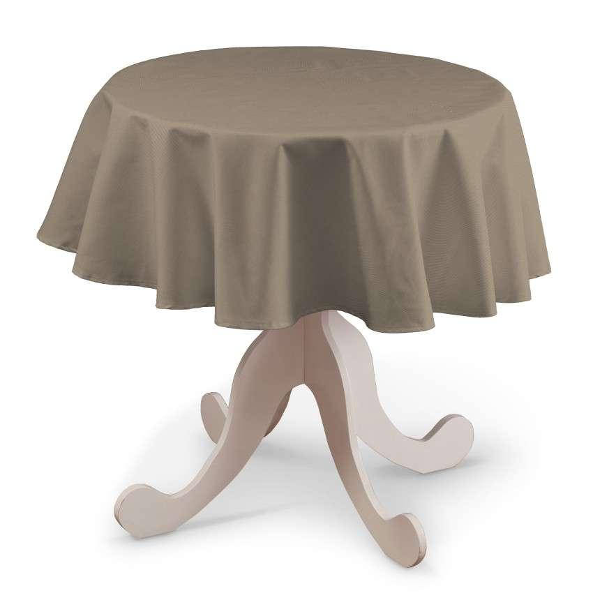 Runde Tischdecke von der Kollektion Cotton Panama, Stoff: 702-28