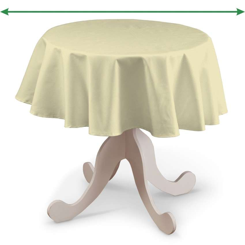 Round tablecloth in collection Panama Cotton, fabric: 702-29