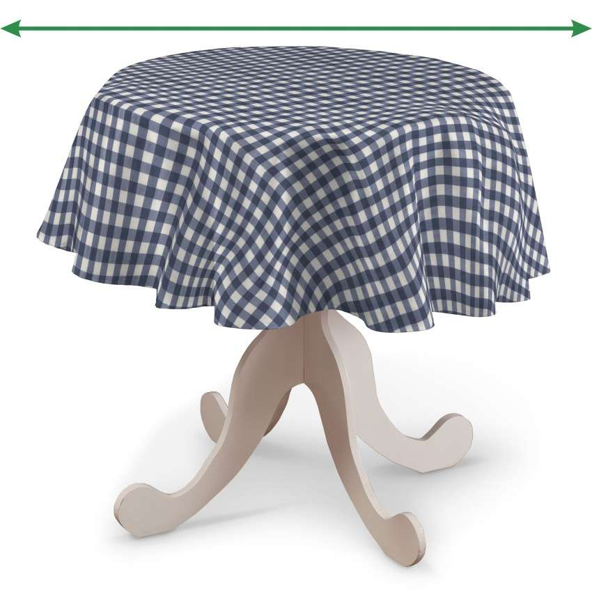 Round tablecloth in collection Quadro, fabric: 136-01