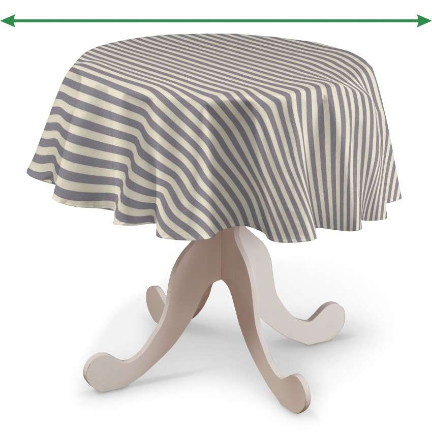 Round tablecloth in collection Quadro, fabric: 136-02