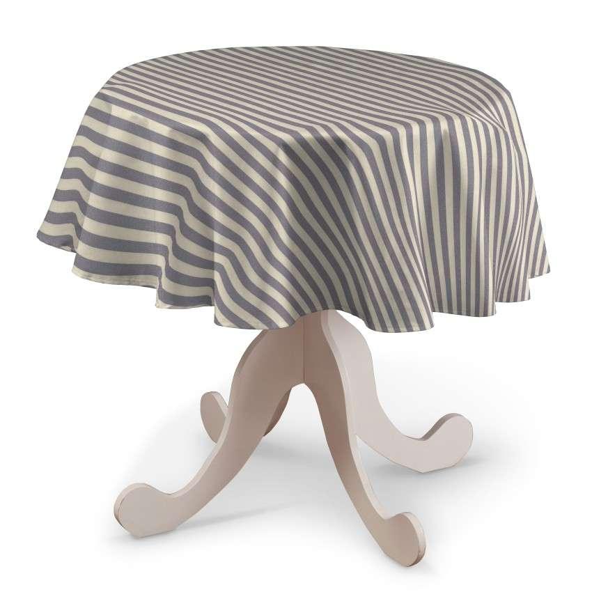 Pyöreä pöytäliina mallistosta Quadro, Kangas: 136-02