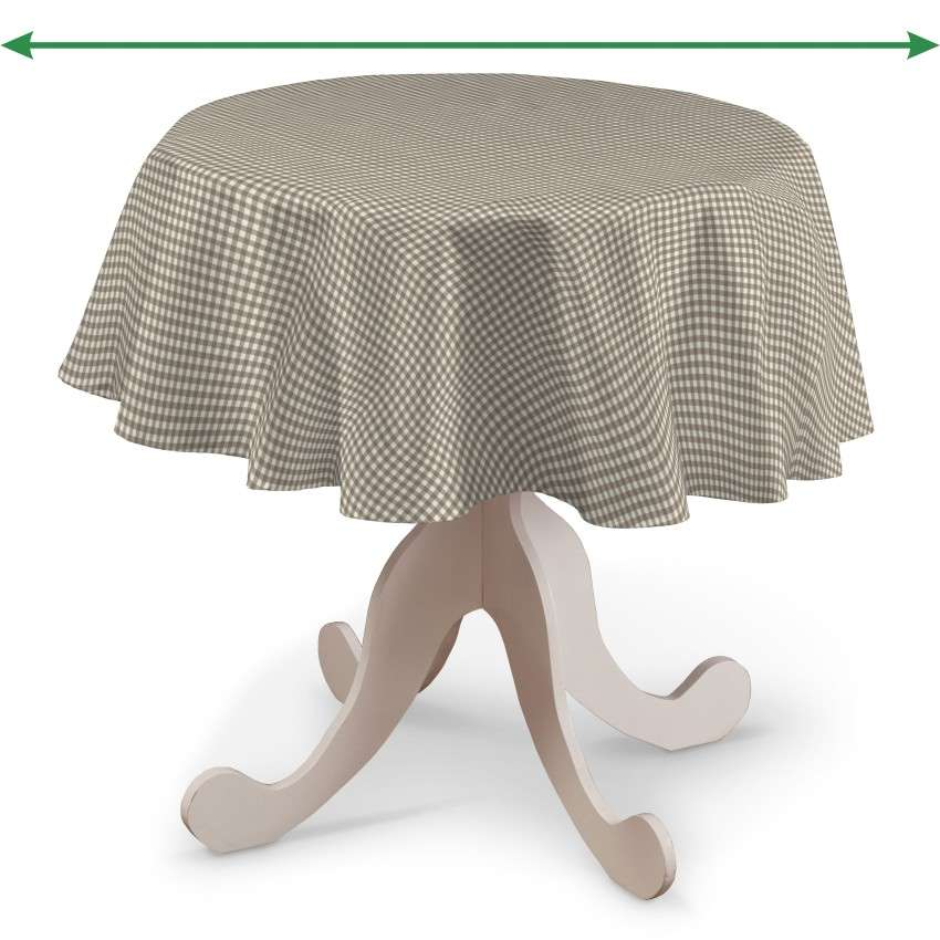 Round tablecloth in collection Quadro, fabric: 136-05
