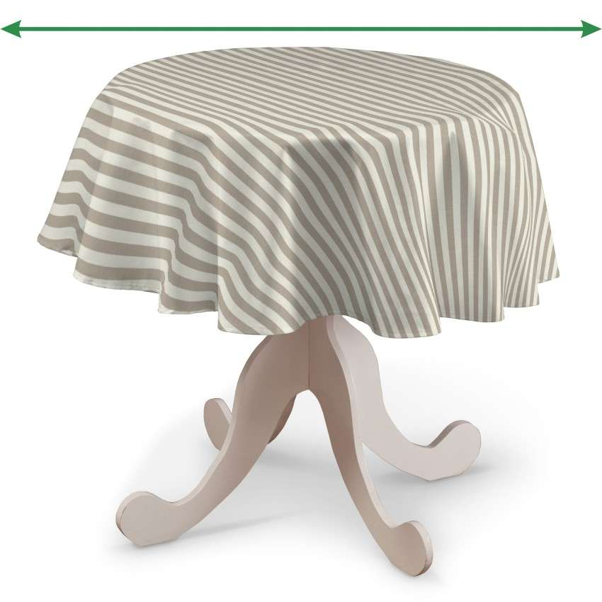 Rund bordduk fra kolleksjonen Quadro, Stoffets bredde: 136-07