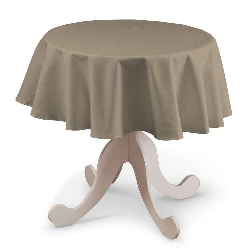 Runde Tischdecke von der Kollektion Quadro, Stoff: 136-09
