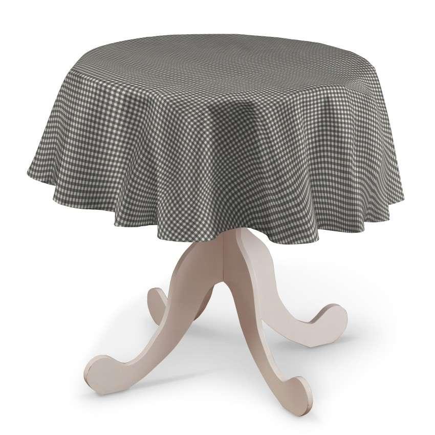 Pyöreä pöytäliina mallistosta Quadro, Kangas: 136-10