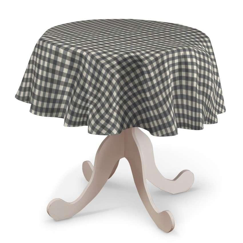 Runde Tischdecke von der Kollektion Quadro, Stoff: 136-11