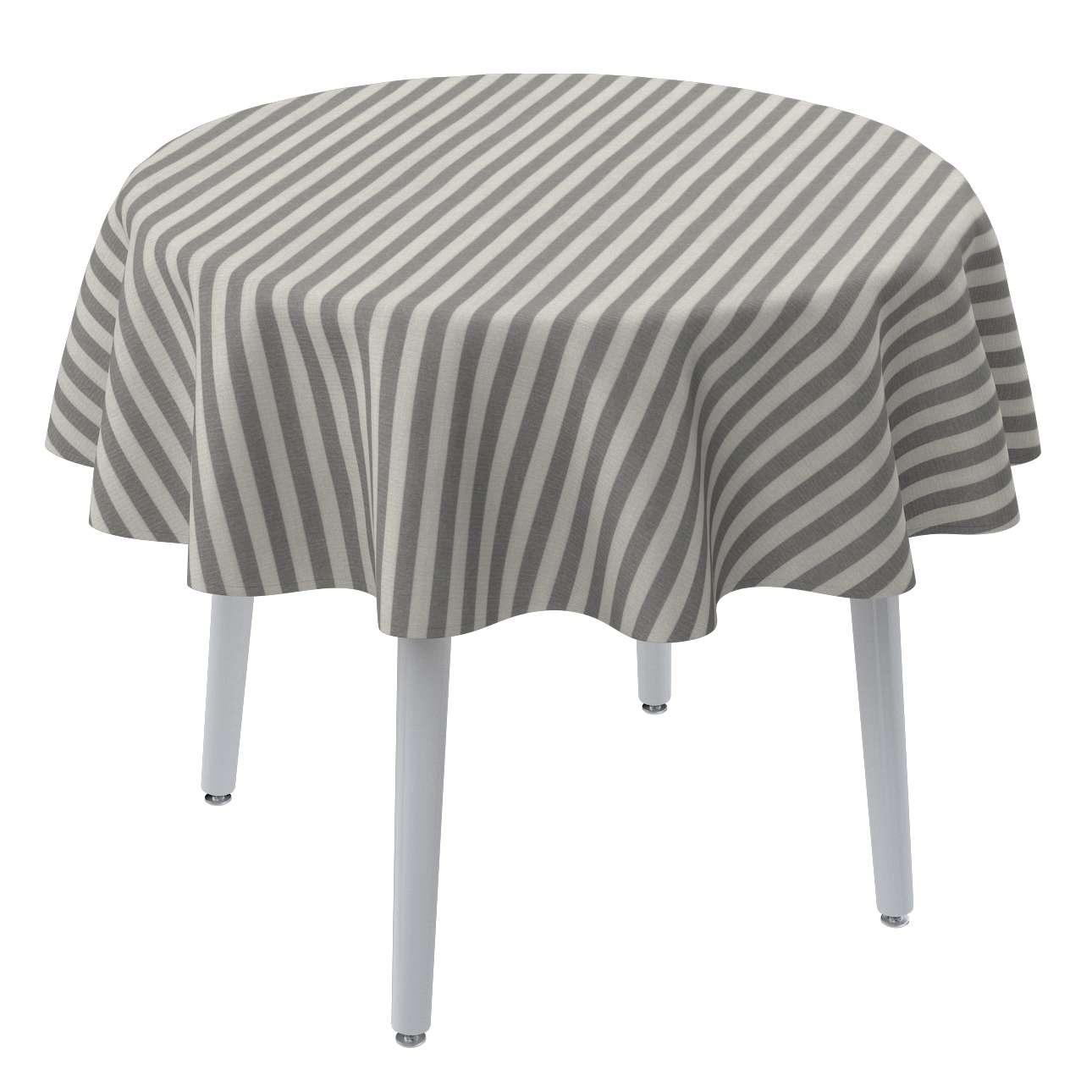 Runde Tischdecke von der Kollektion Quadro, Stoff: 136-12
