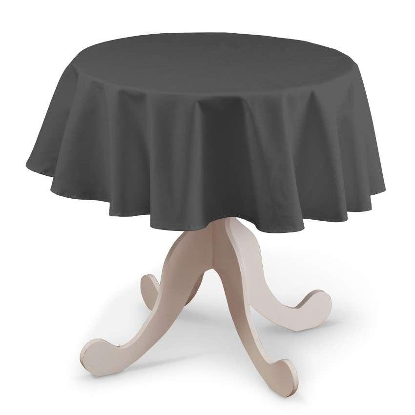 Runde Tischdecke von der Kollektion Quadro, Stoff: 136-14