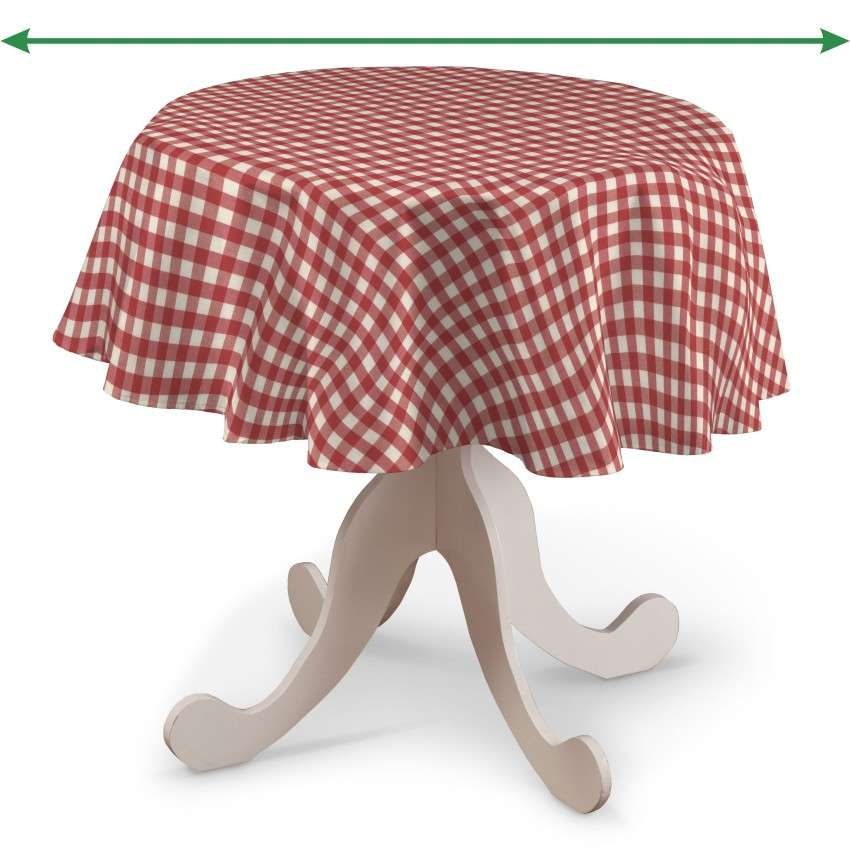 Round tablecloth in collection Quadro, fabric: 136-16