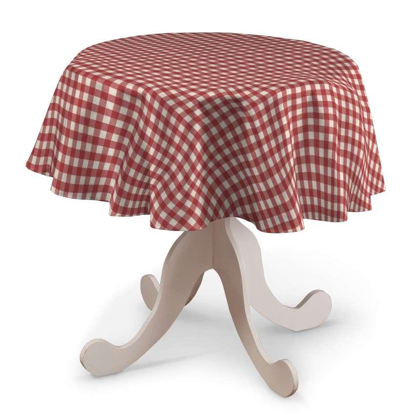 Runde Tischdecke von der Kollektion Quadro, Stoff: 136-16