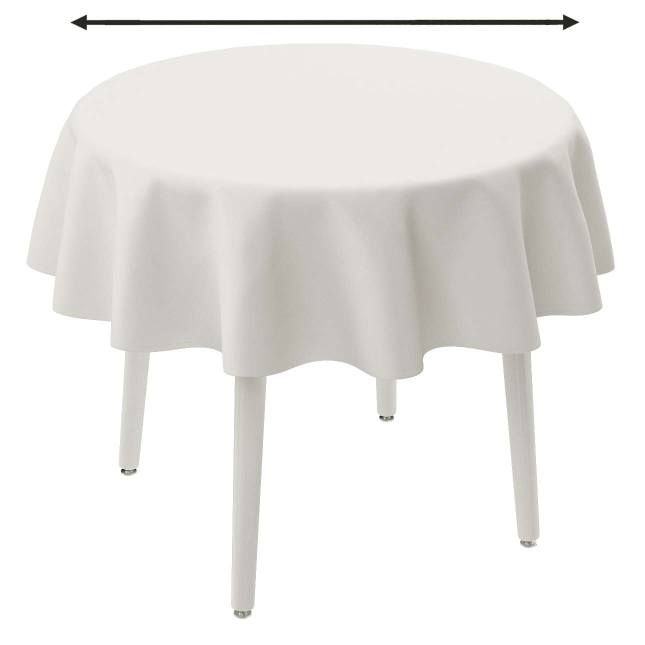 Round tablecloth in collection Panama Cotton, fabric: 702-34