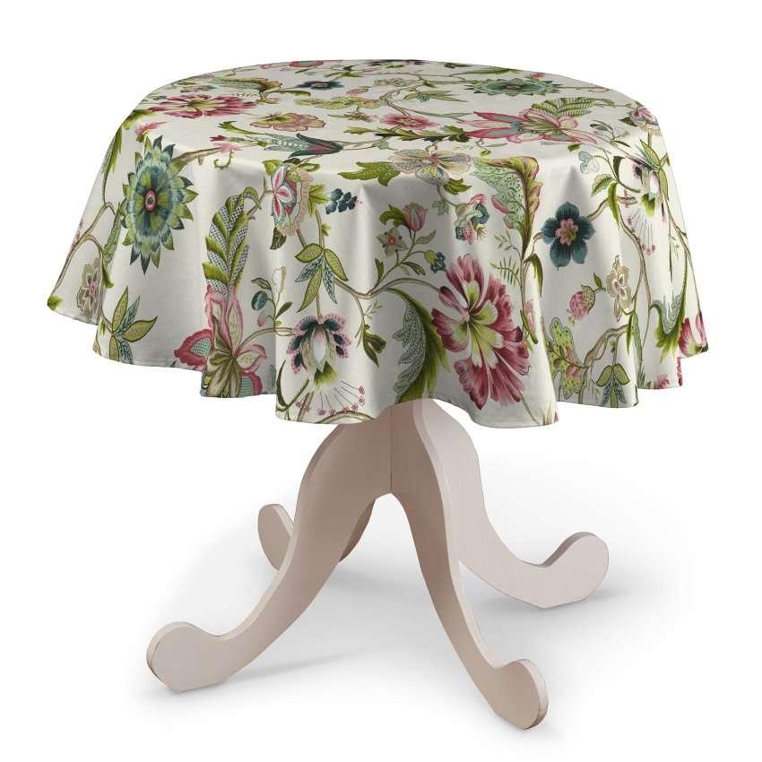Rund bordsduk i kollektionen Londres, Tyg: 122-00