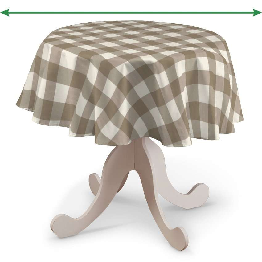 Runde Tischdecke von der Kollektion Quadro, Stoff: 136-08