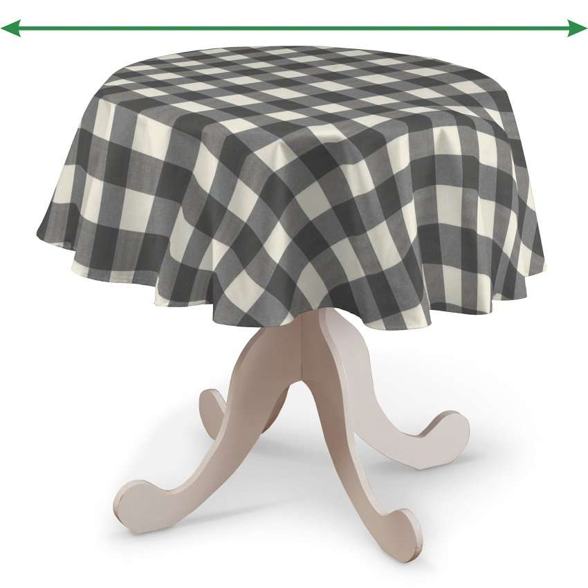 Round tablecloth in collection Quadro, fabric: 136-13
