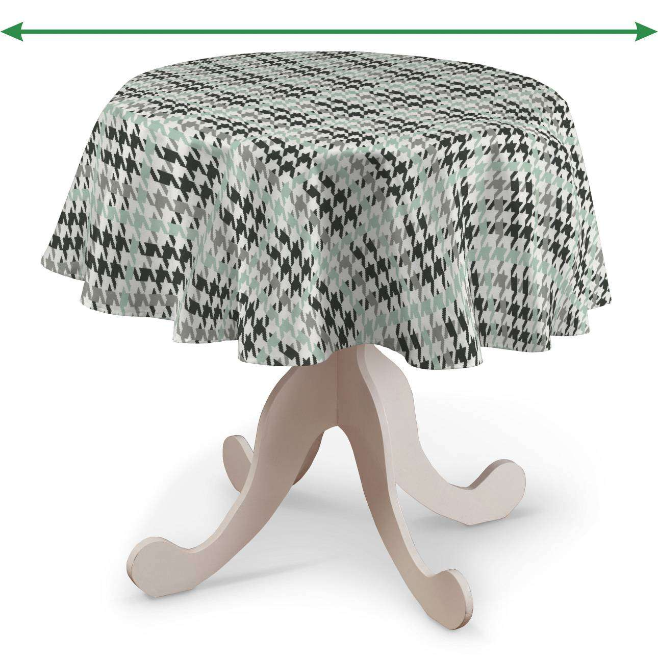 Runde borddug fra kollektionen Restsalg, Stof: 137-77