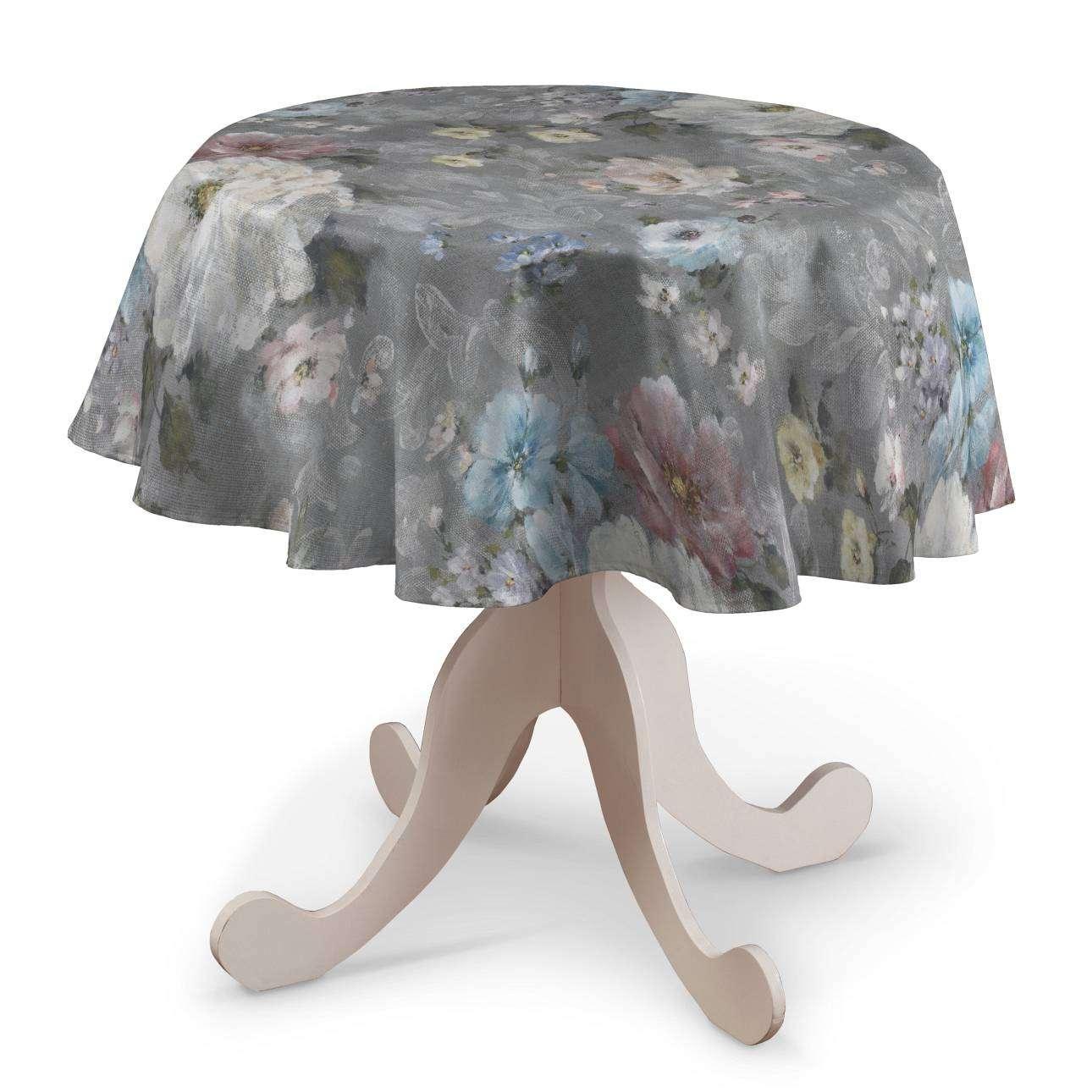 Runde Tischdecke von der Kollektion Monet, Stoff: 137-81