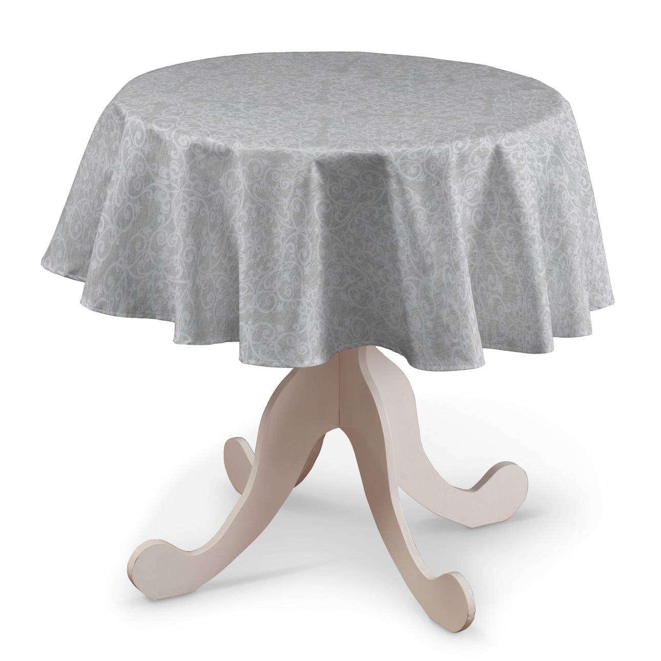 Runde Tischdecke von der Kollektion Venice, Stoff: 140-49