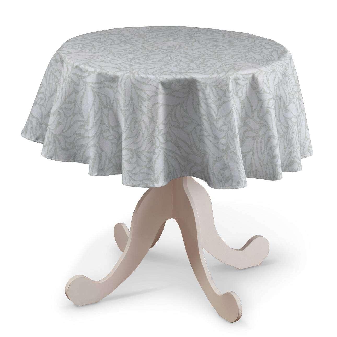 Rund bordsduk i kollektionen Venice, Tyg: 140-50