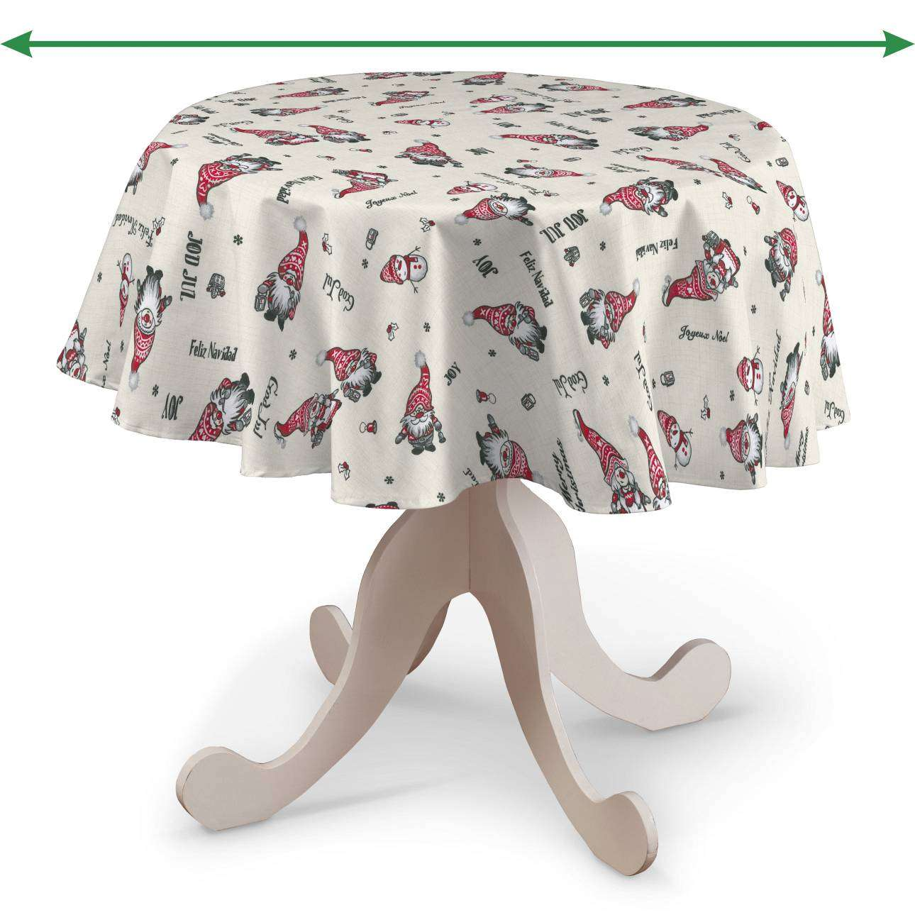 Round tablecloth in collection Christmas, fabric: 629-28