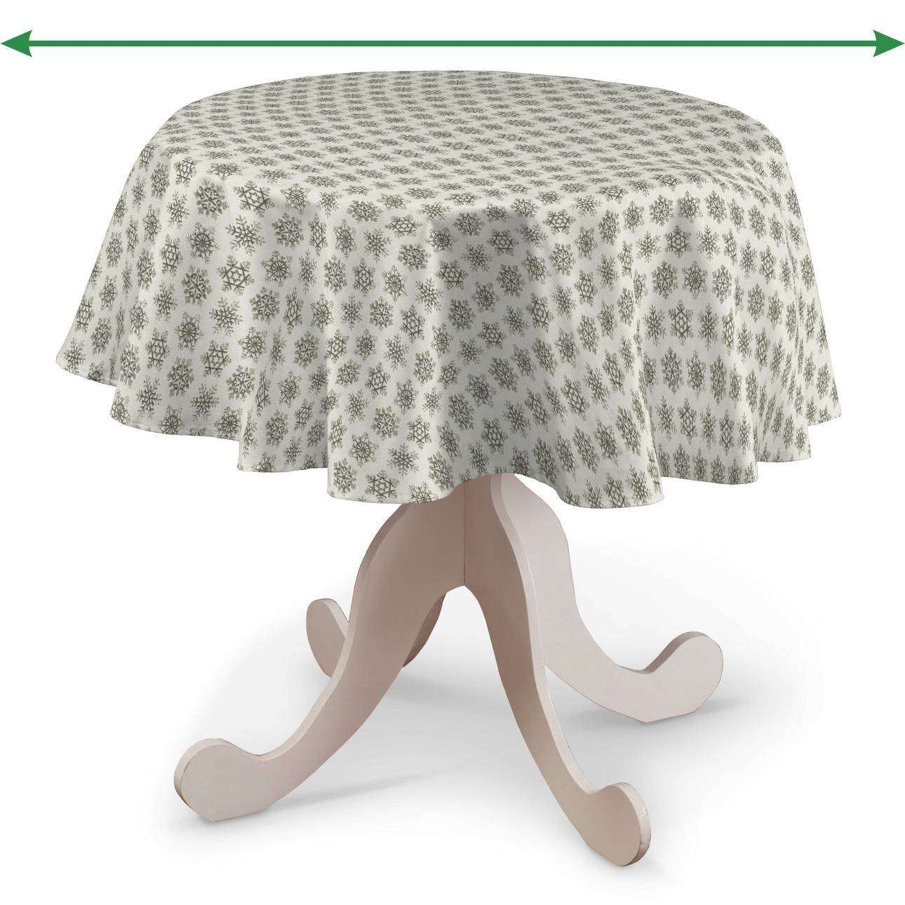 Round tablecloth in collection Christmas, fabric: 630-26