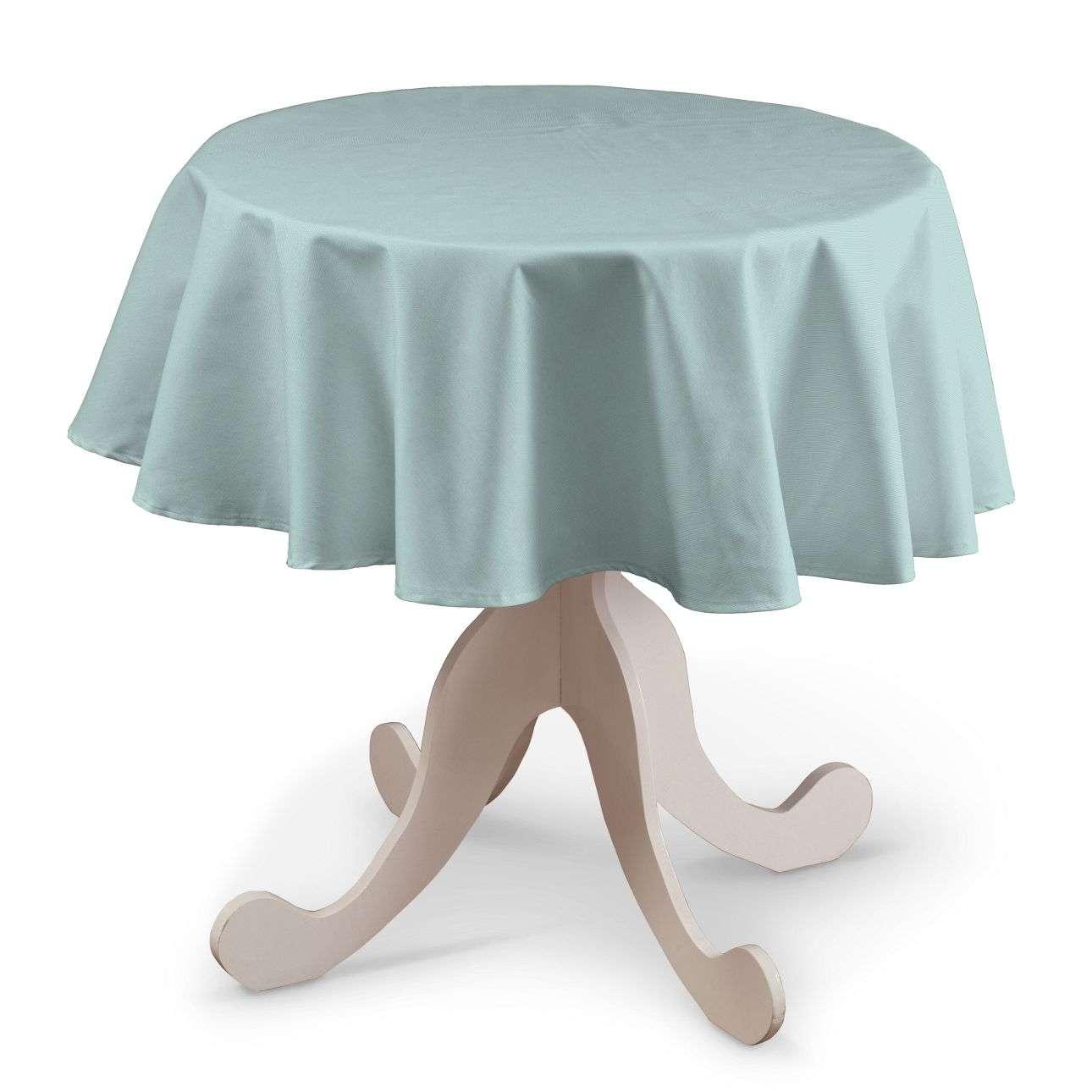 Runde Tischdecke von der Kollektion Cotton Panama, Stoff: 702-10