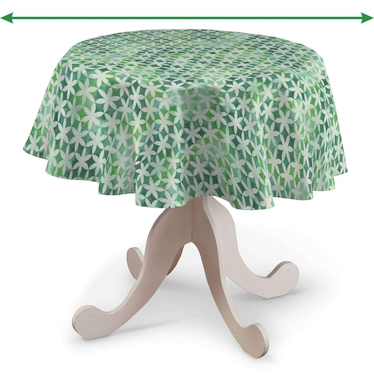Round tablecloth in collection Tropical Island, fabric: 141-65