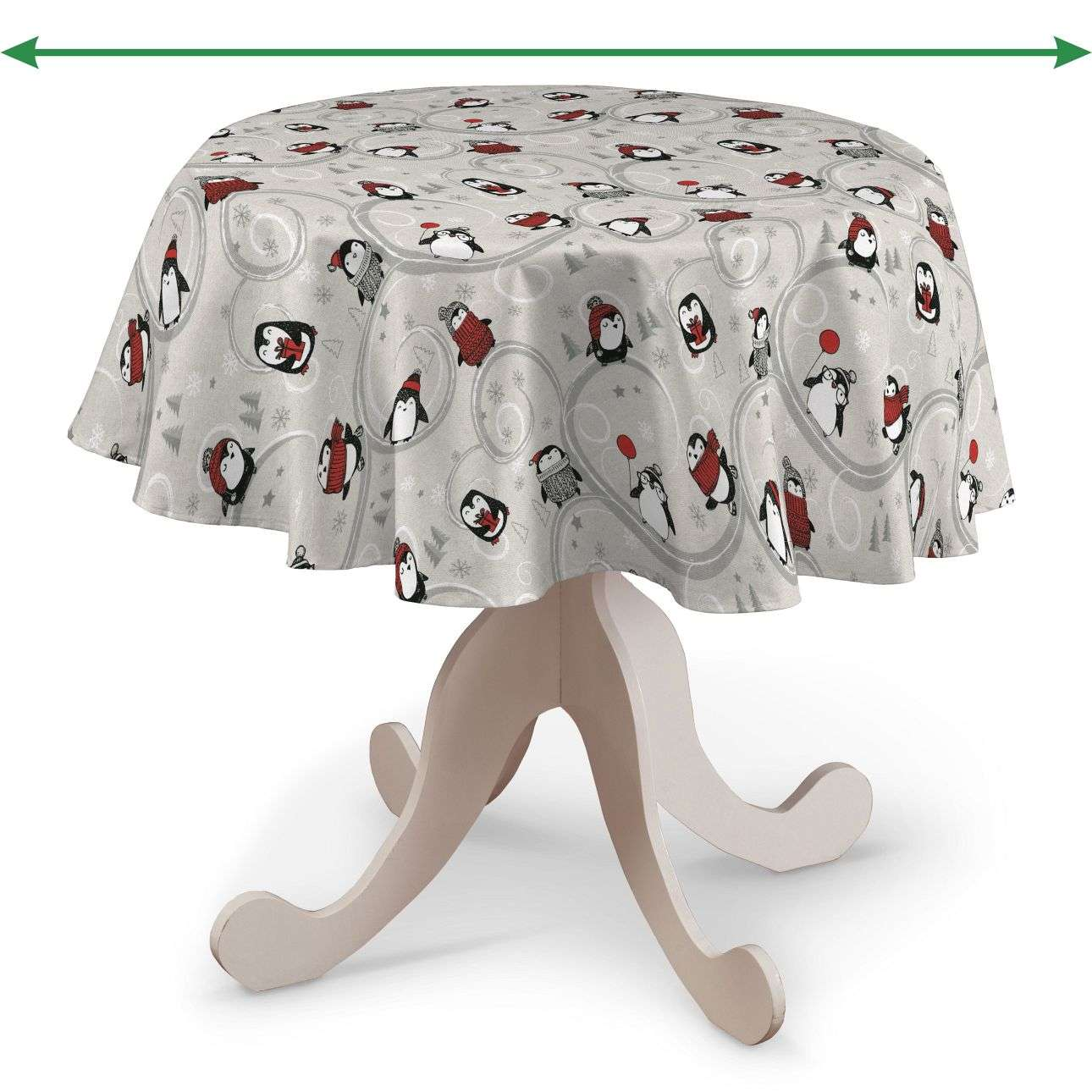 Round tablecloth in collection Christmas, fabric: 629-33