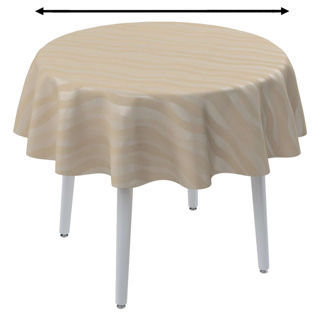 Round tablecloth in collection Damasco, fabric: 141-76