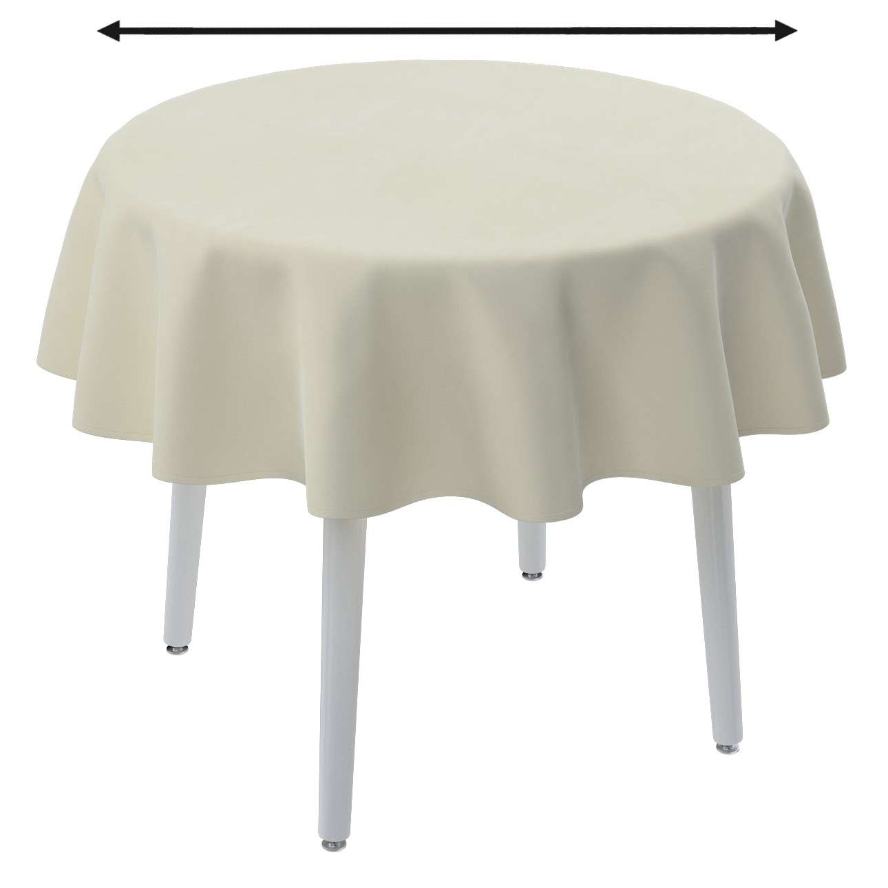 Round tablecloth in collection Velvet, fabric: 704-10