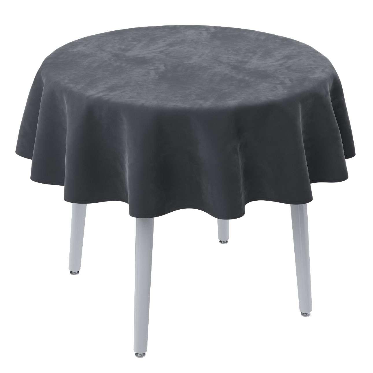 Rund bordsduk i kollektionen Velvet, Tyg: 704-12
