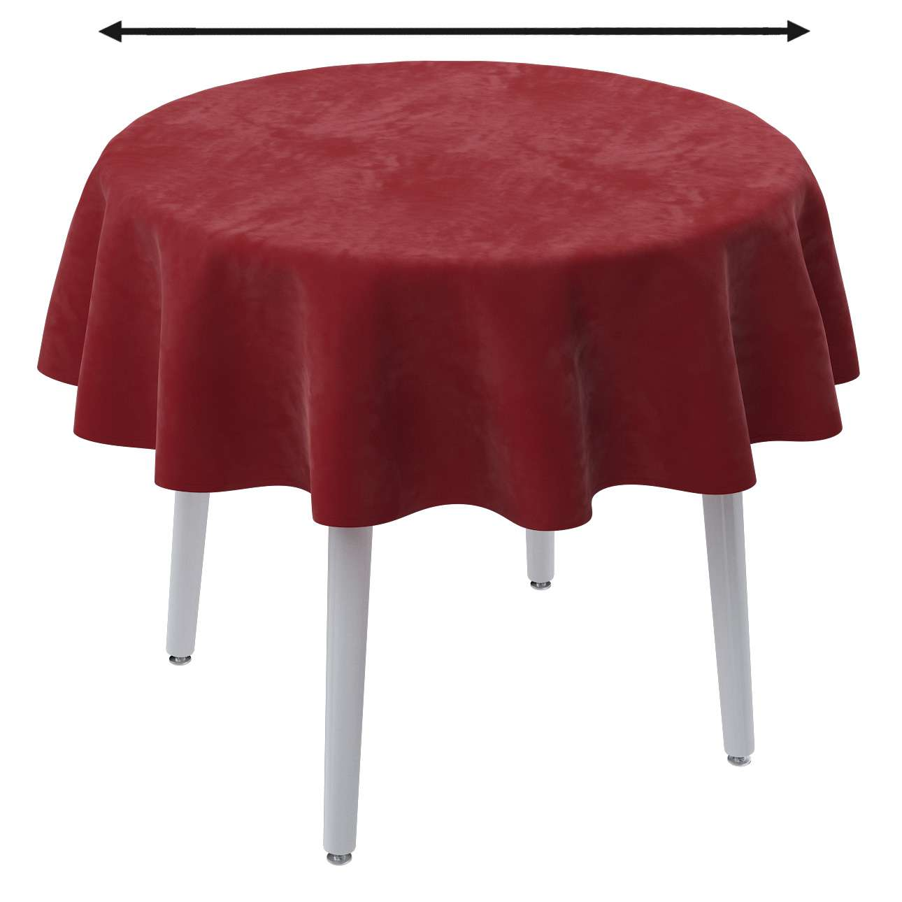 Runde Tischdecke von der Kollektion Velvet, Stoff: 704-15