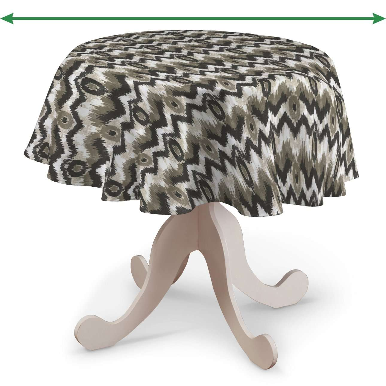 Round tablecloth in collection Modern, fabric: 141-88