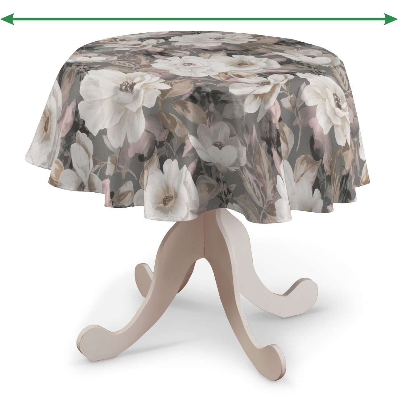 Round tablecloth in collection Gardenia, fabric: 142-13