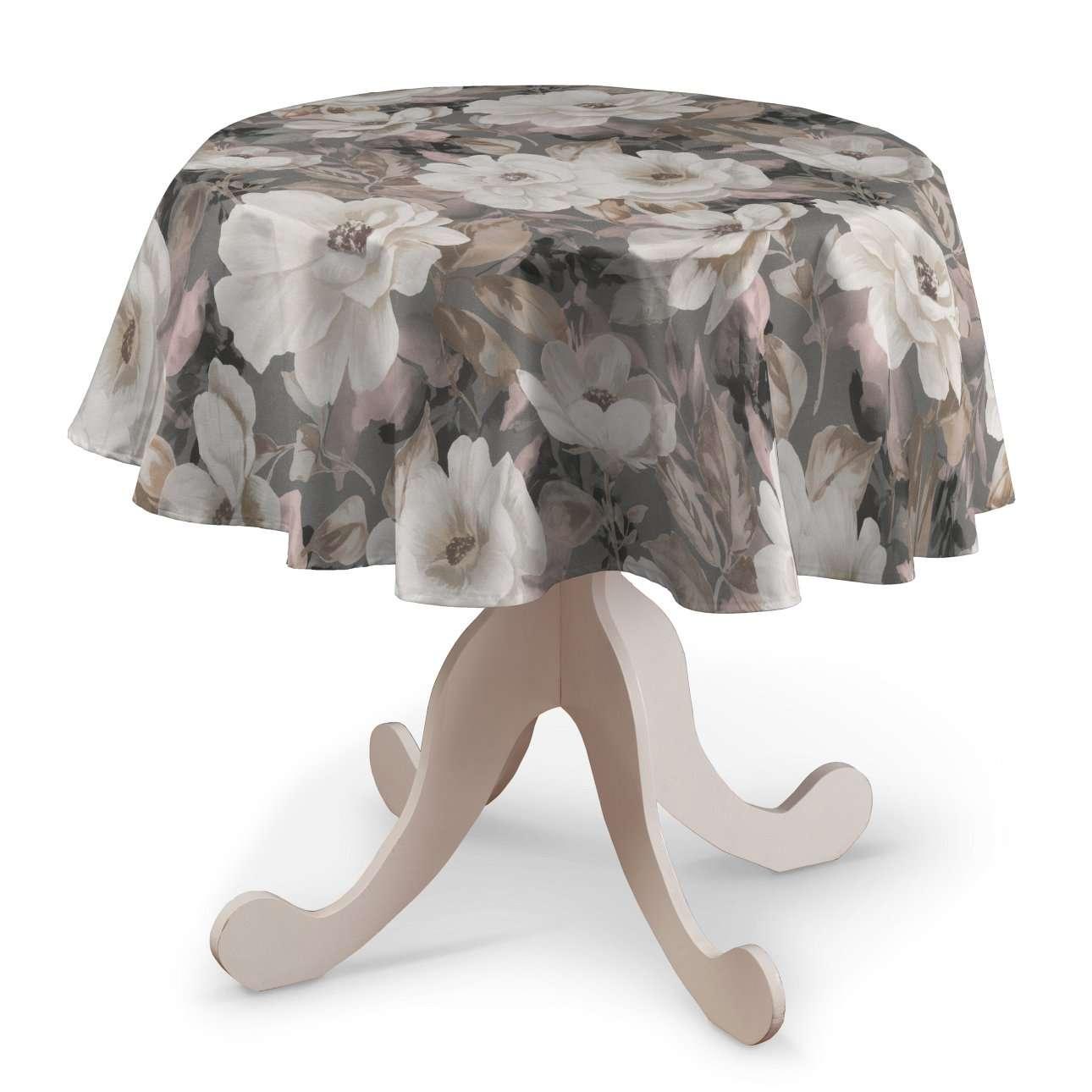 Pyöreä pöytäliina mallistosta Gardenia, Kangas: 142-13