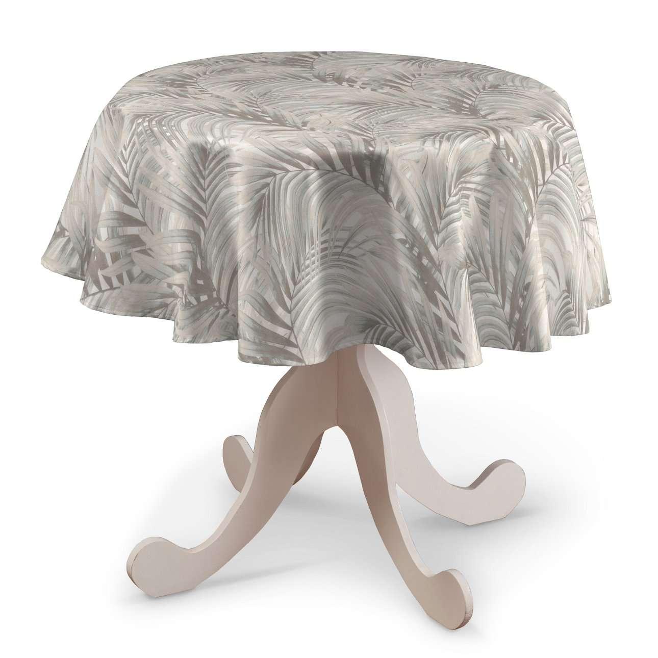 Pyöreä pöytäliina mallistosta Gardenia, Kangas: 142-14