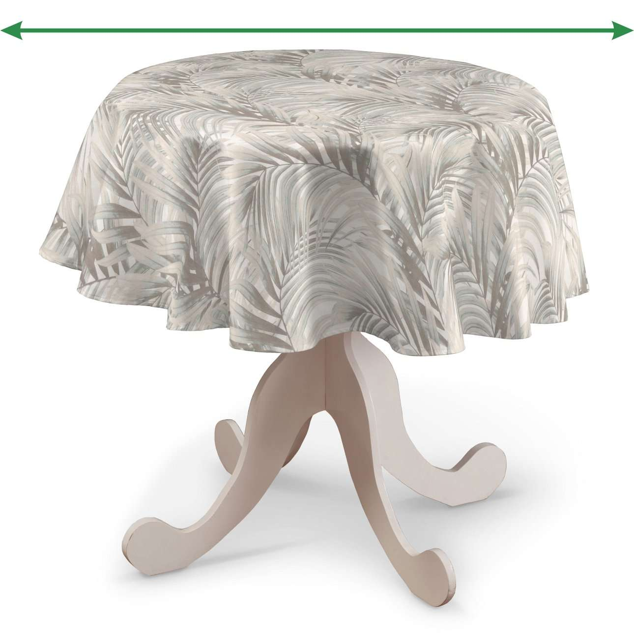 Rund bordsduk i kollektionen Gardenia, Tyg: 142-14