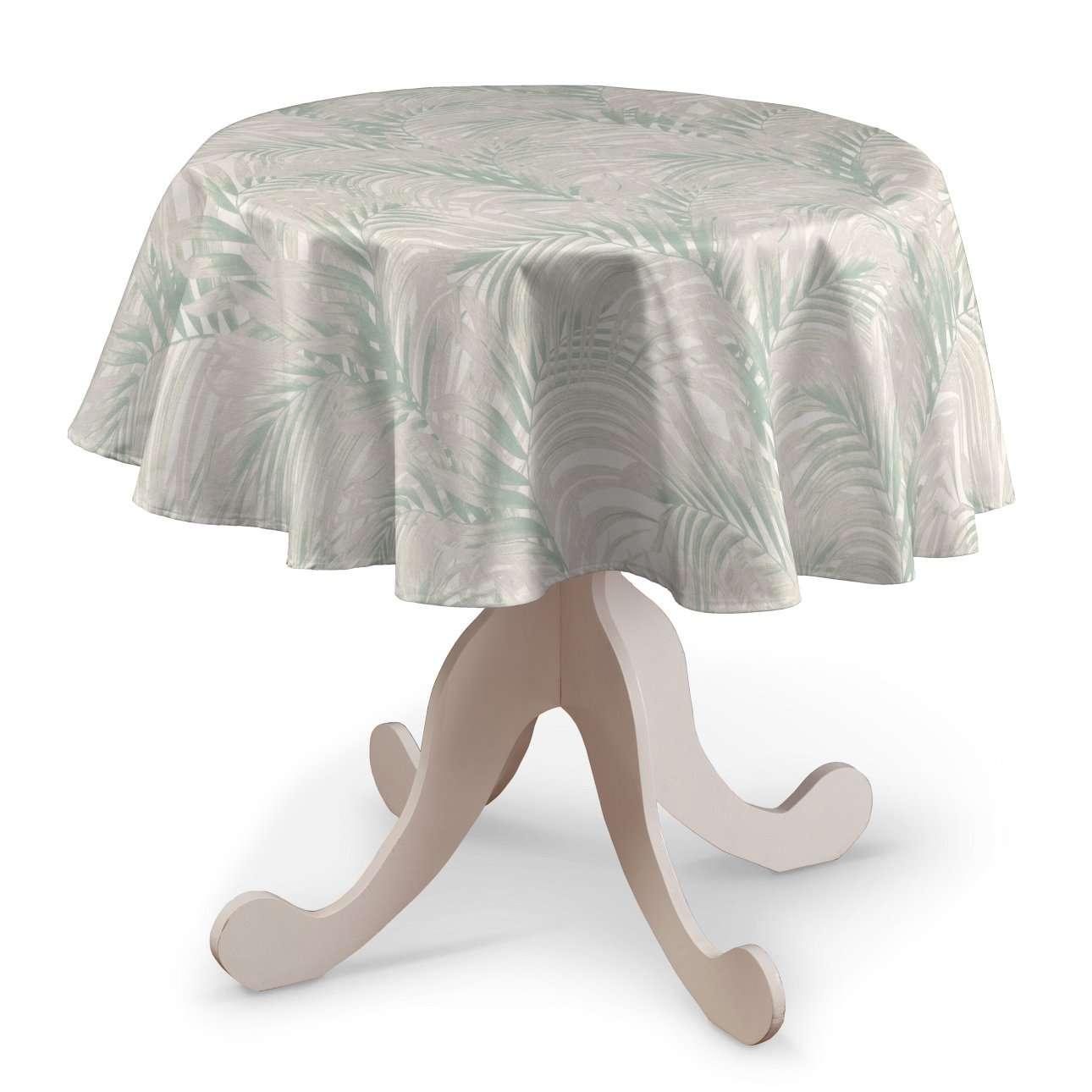 Rund bordsduk i kollektionen Gardenia, Tyg: 142-15
