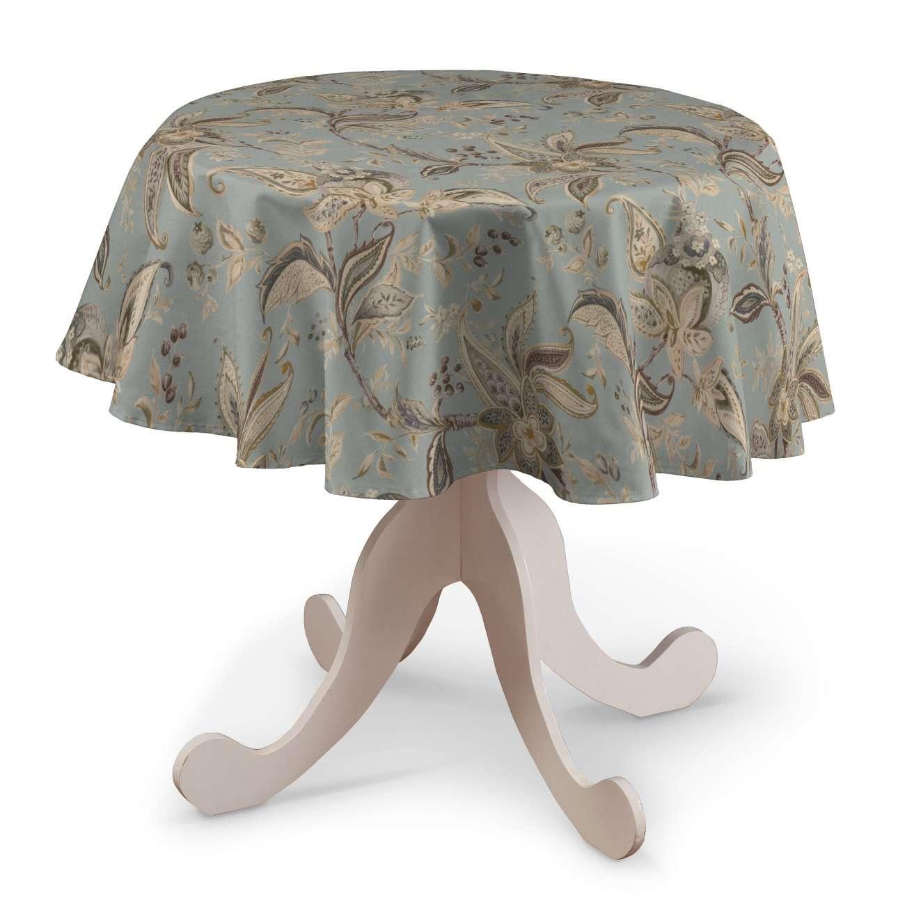 Runde Tischdecke von der Kollektion Gardenia, Stoff: 142-18