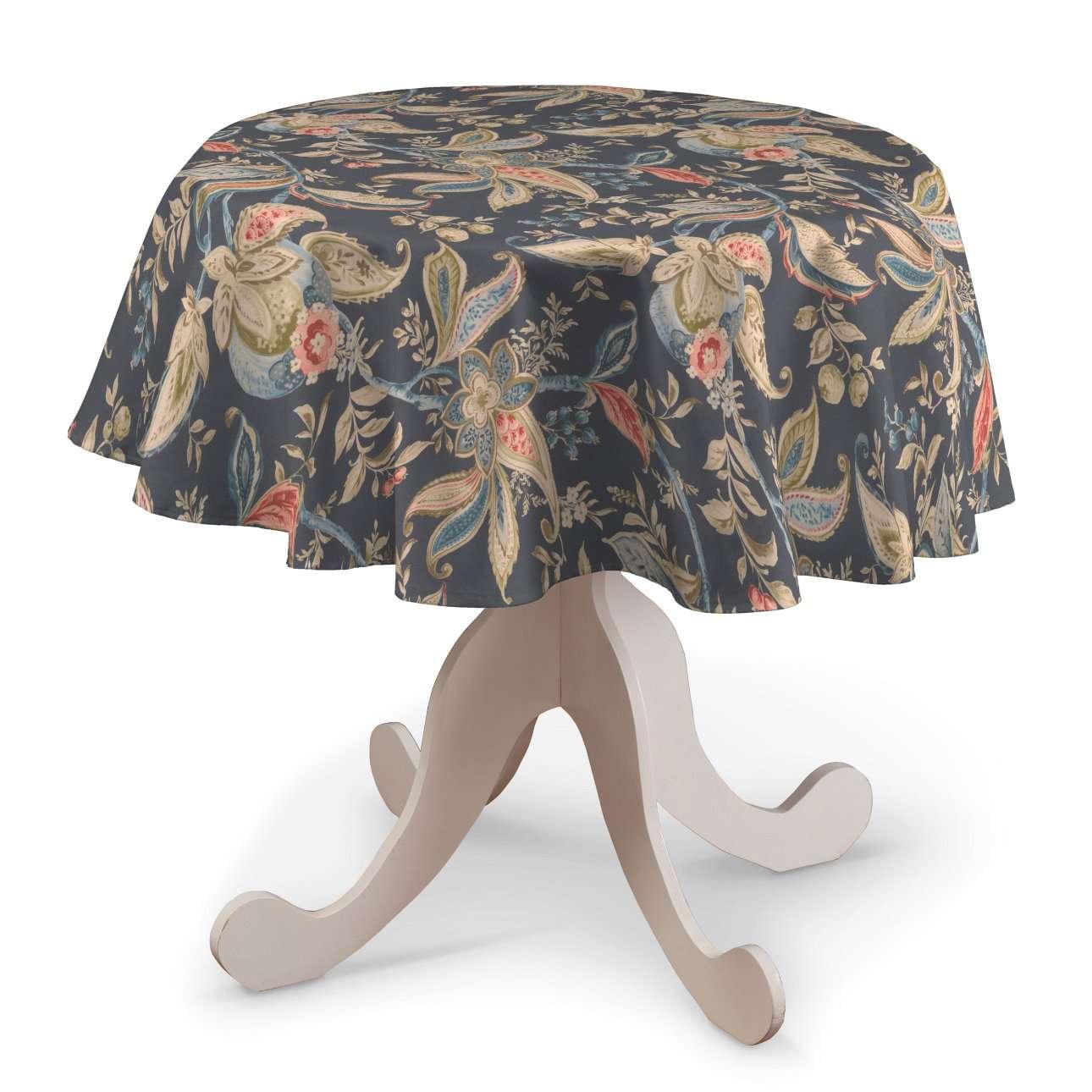 Runde borddug fra kollektionen Gardenia, Stof: 142-19