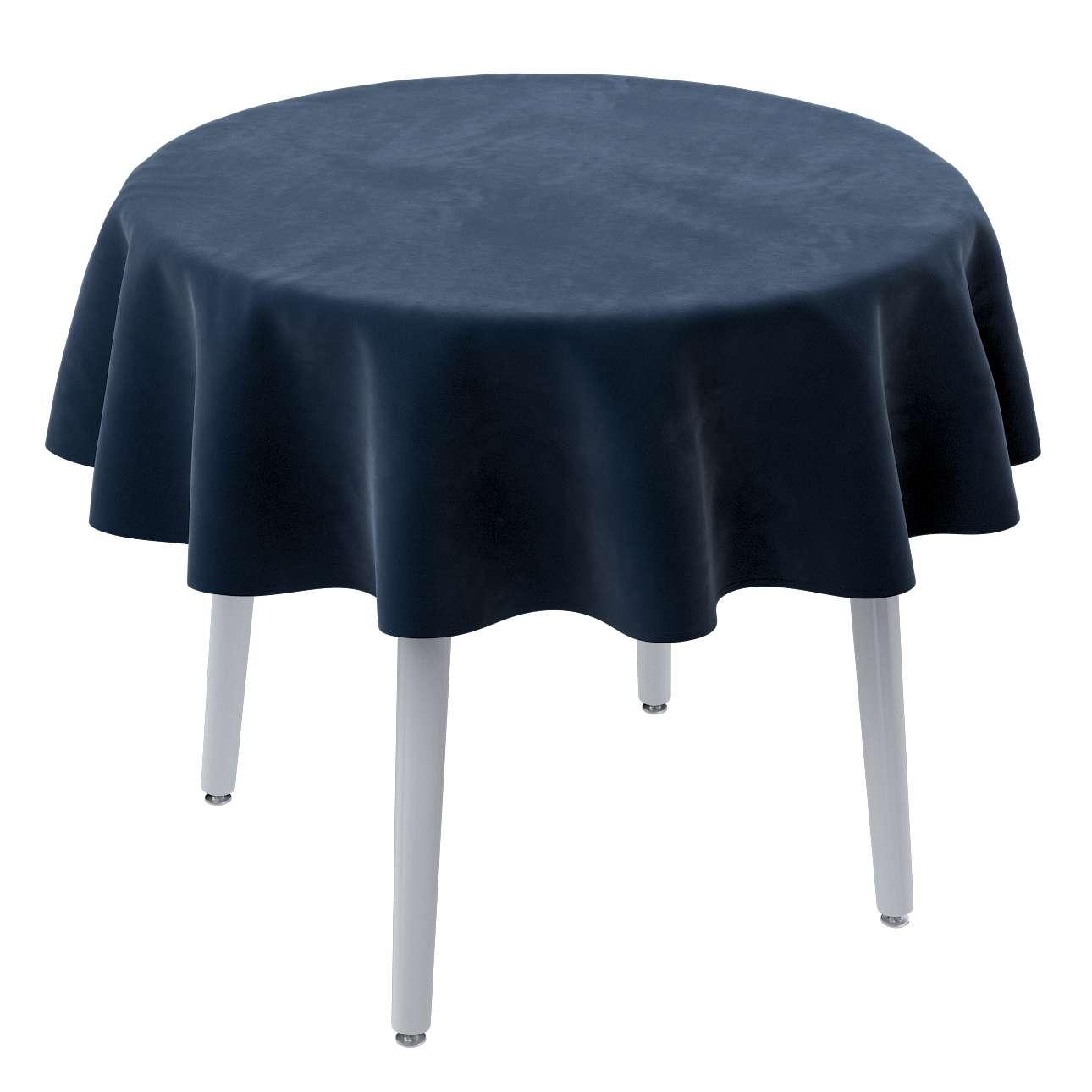 Rund bordsduk i kollektionen Velvet, Tyg: 704-29