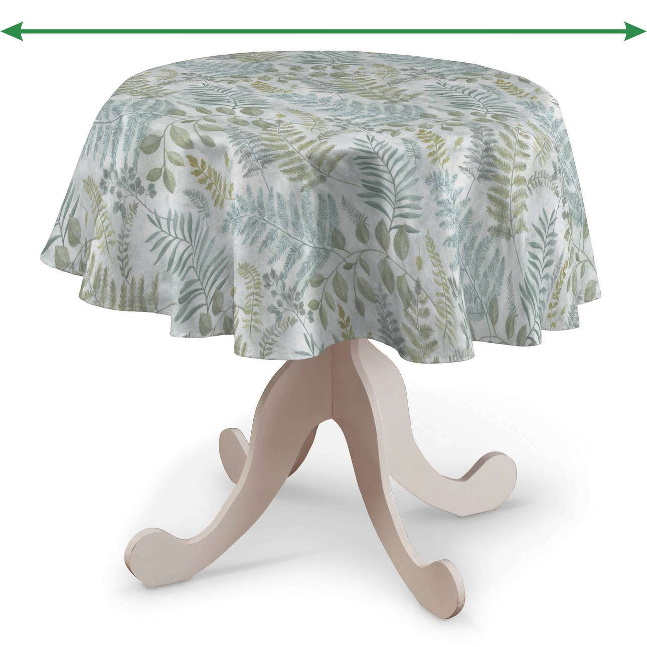 Round tablecloth in collection Pastel Forest, fabric: 142-46