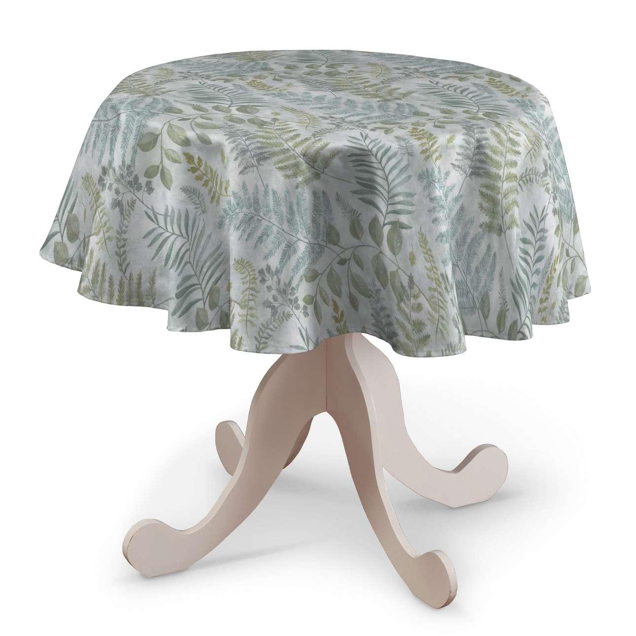 Runde Tischdecke von der Kollektion Pastel Forest, Stoff: 142-46