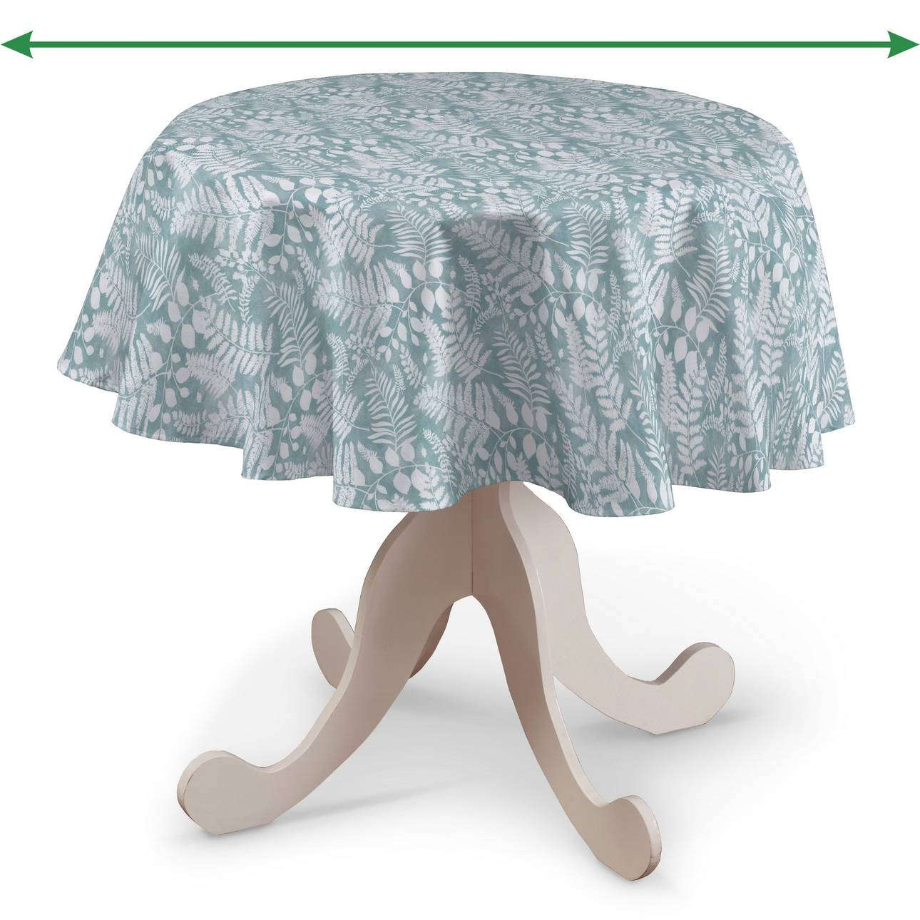 Round tablecloth in collection Pastel Forest, fabric: 142-47