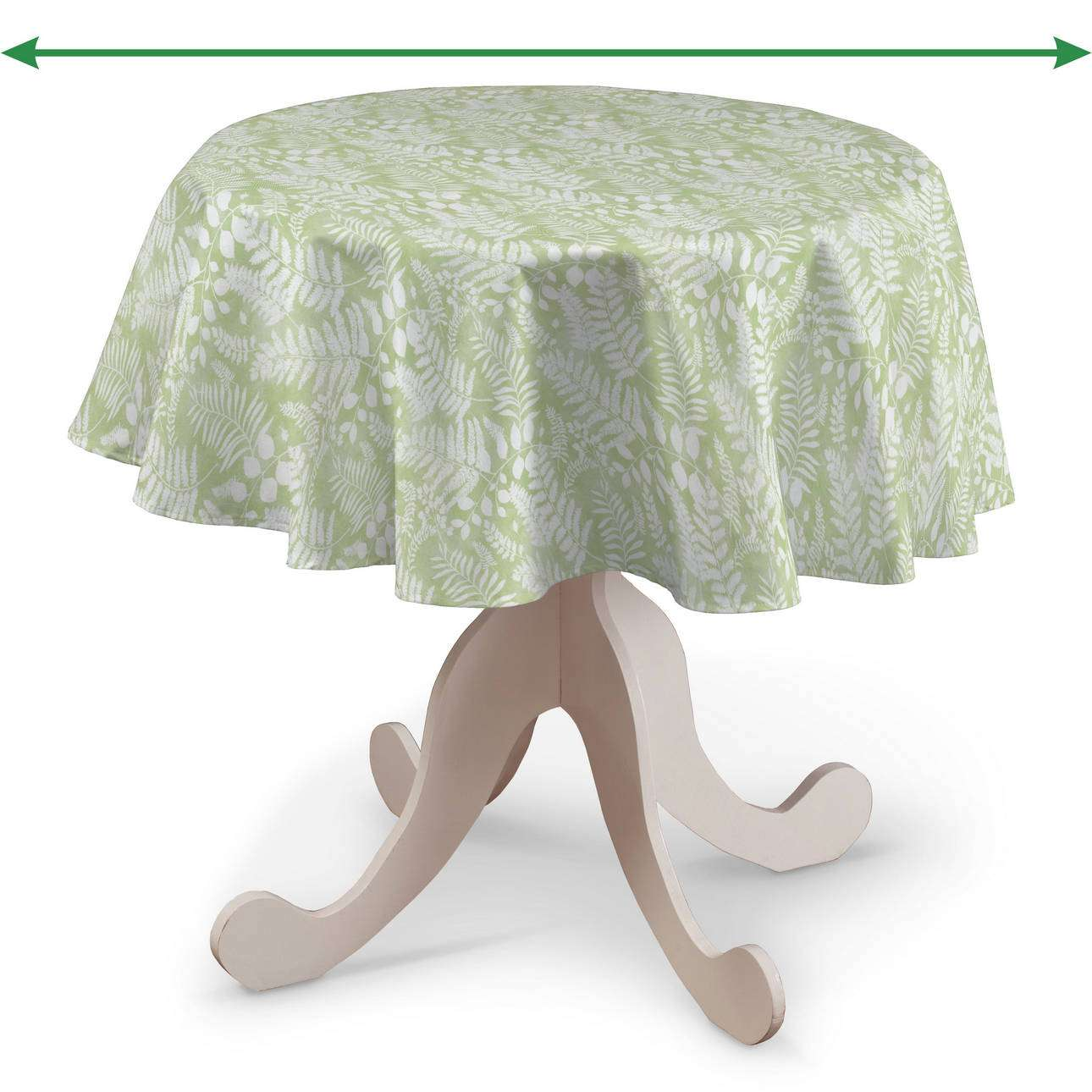 Round tablecloth in collection Pastel Forest, fabric: 142-49